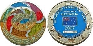 Ellandel's Australia 2007 Geocoin
