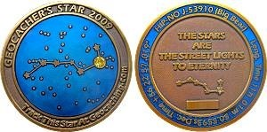 Geocacher's Star 2009 Geocoin
