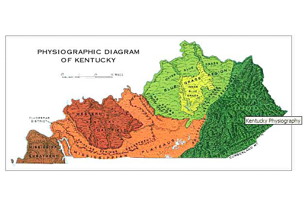 Us Map Kentucky Globalinterco - Us physiographic regions map