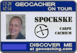 Geocacher on Tour - spockske
