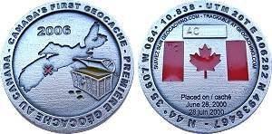 1st Cache in Canada Geocoin