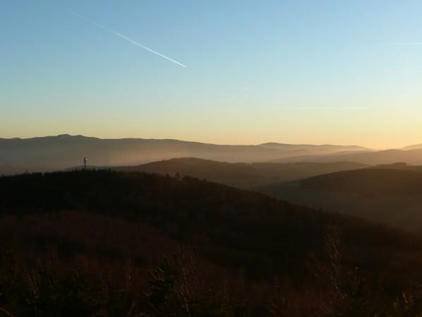 Výhled na jih před soumrakem