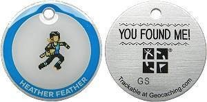 Heather Feather Lackey Tag