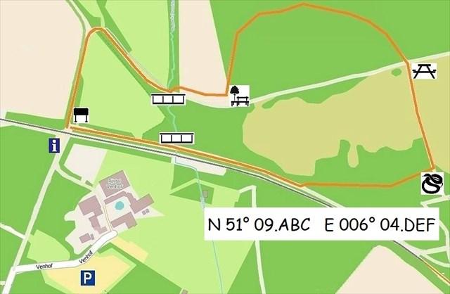 Waalsberg kaart