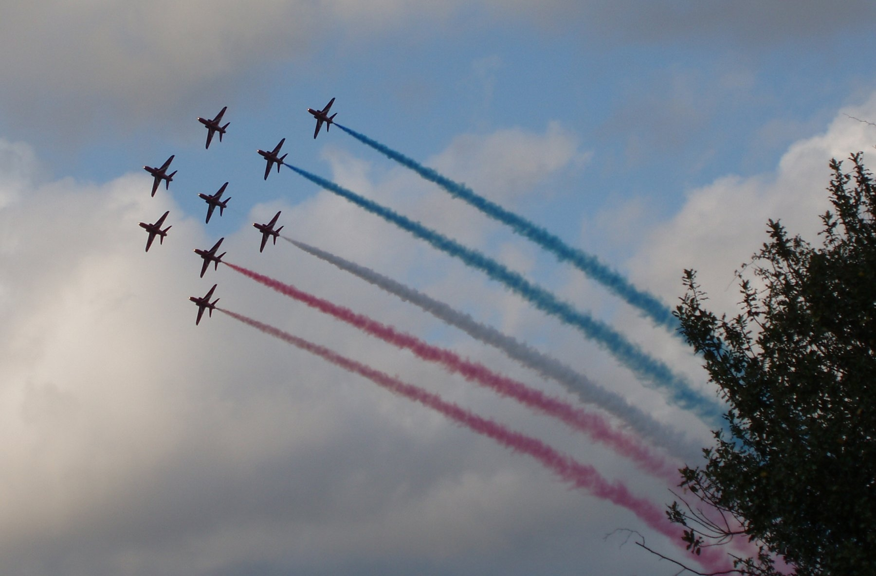 Red Arrows over Cranleigh