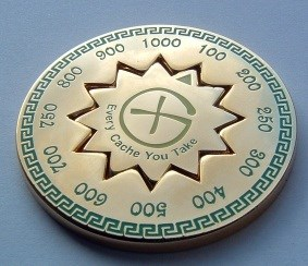 Cache Counter Geocoin