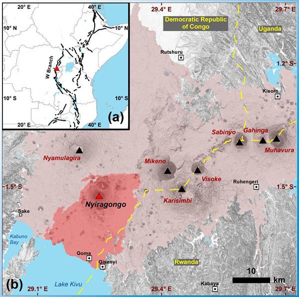 GC8BZ6J AGT 137: Volcanic system Nyiragongo & Nyamuragira (Earthcache) in Democratic  Republic of the Congo created by Alke04