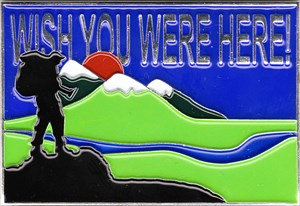 Wish You Were Here Postcard Geocoin )1'