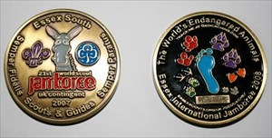 Essex South Jamboree Unit Geocoin