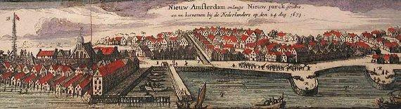 Nový Amsterdam kolem roku 1674