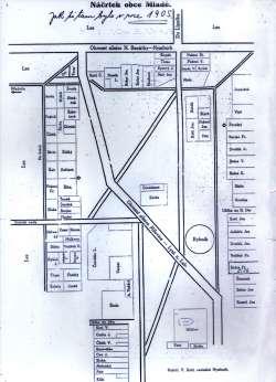 Mapa Mladé