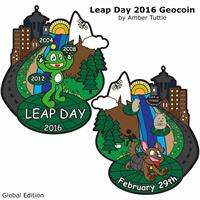 Leap Day 2016 Geocoin, Global Edition