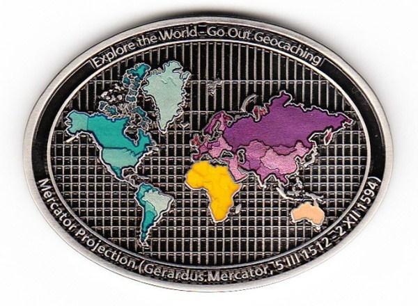Mercator Geocoin - back