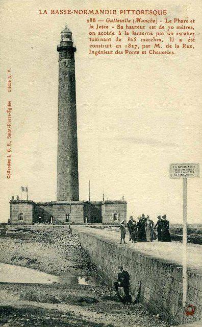 Photo ancienne du phare de Gatteville