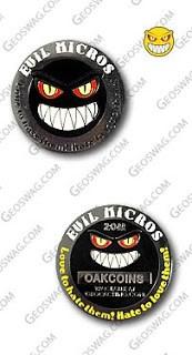 Geocoin - Evil Micro Red Eyes N