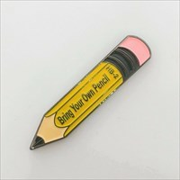 BYO Pencil Geocoin front