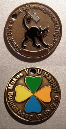 Cierna Macka / Black Cat Geocoin