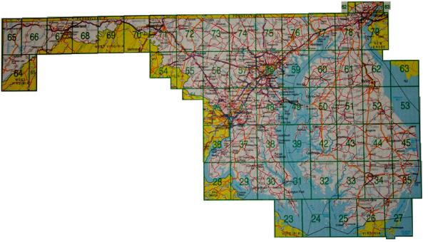 Delorme Map on