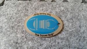 Travel Bug Dog Tag - Blue