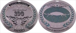 Award Geocoin 100 Geocaches ich