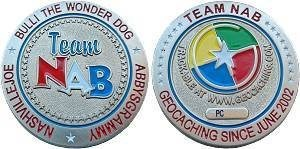 Team NAB Geocoin