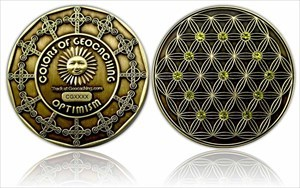 The Colors of Geocaching Geocoin - OPTIMISMUS
