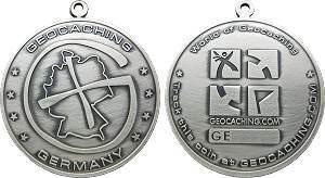 German Geocoin - Silber