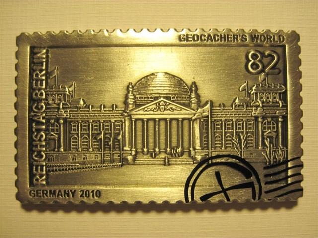 TB3ZBTW Geocachers World Geocoin GERMANY