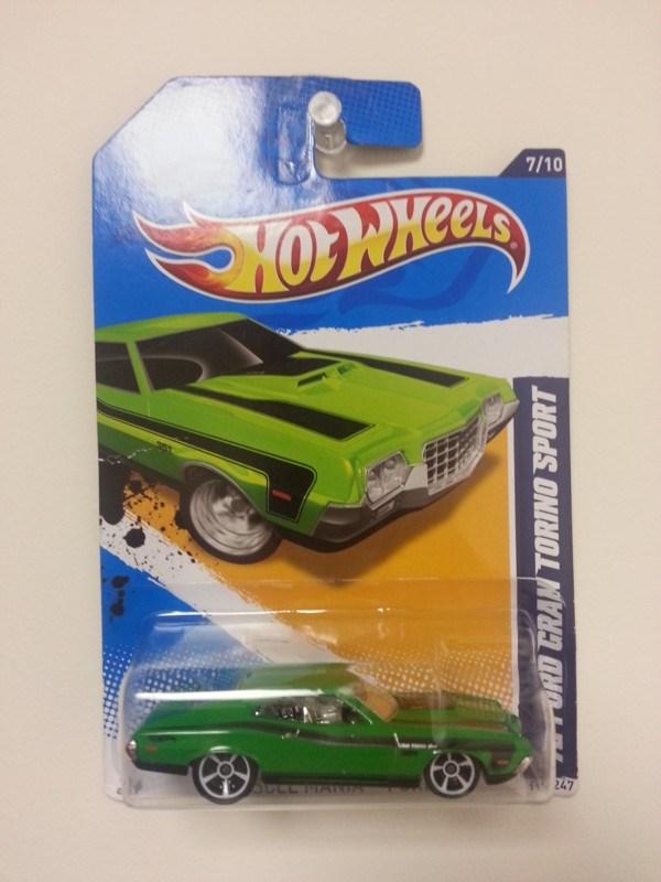 TB4YDJY) Travel Bug Dog Tag - Hot Wheels - 1972 Ford Gran