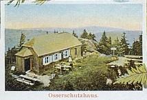 Původní podoba chaty na výřezu pohlednice