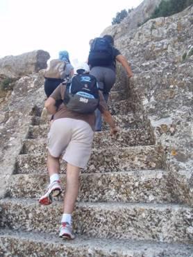 Las escaleras del Salto del Angel