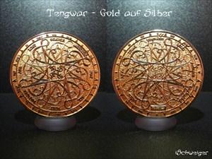 Tengwar NAWWAL Geocoin - Gold auf Silber
