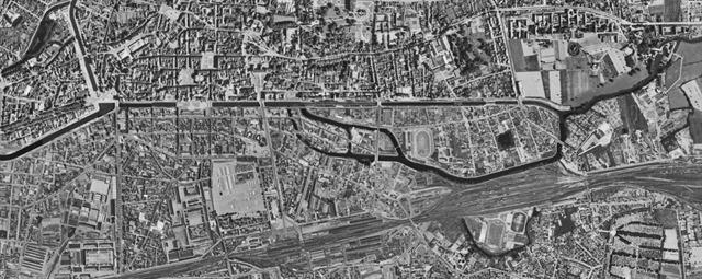 Photo aérienne de 1950 (source IGN)