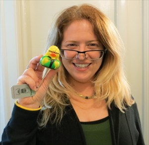 Amy with Amy Duck