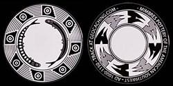 Mimbres 2.0 Geocoin - black