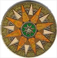 Compass Rose Geocoin 2012 - Sahara - Front