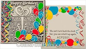 Happy Birthday coin