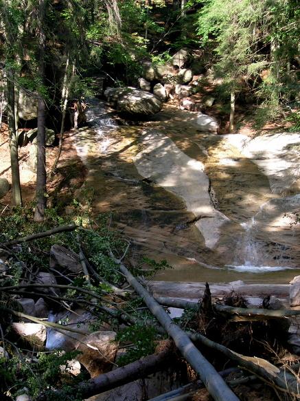 vodopád po povodni