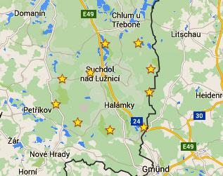 Nase kesky na mape