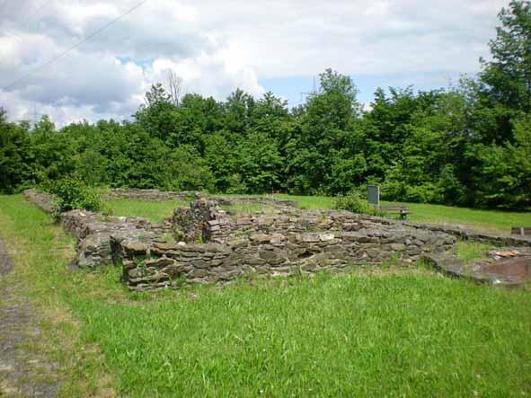 Die Grundmauern des Römischen Herrenhauses