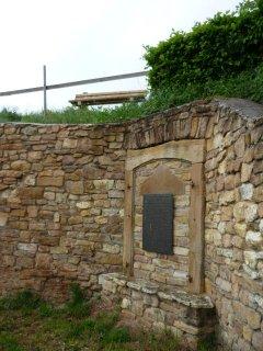 Geschichtstafel Klostermauer Sion