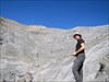 The ridge is straight ahead on solid rock
