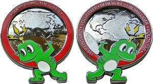 Supporting The Game Volunteer Geocoin - Rot