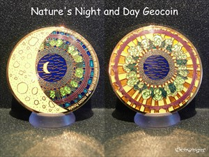Nature's Night and Day Geocoin