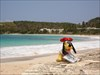Goofy at Half Moon Bay Beach, Antigua