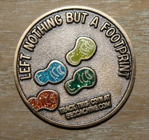 Geocoin: Left nothing but a footprint