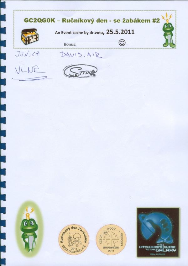 Rucnikovy den Pardubice 2011 - logbook