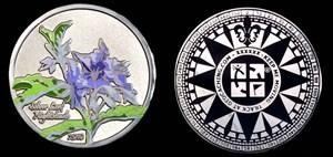 Wildflower 2010 Silver Leaf Nightshade Geocoin - P
