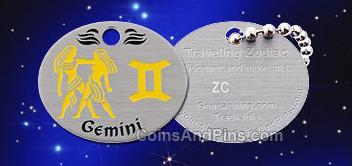 Gemini Traveling Zodiac Geocoin