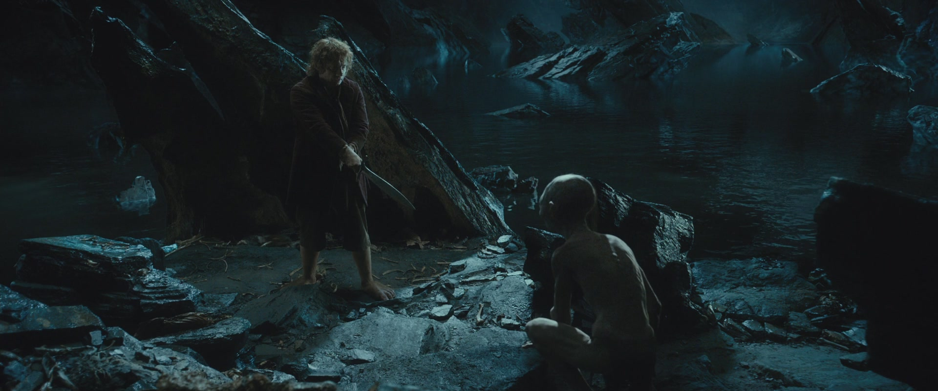 The hobbit bilbo and gollum